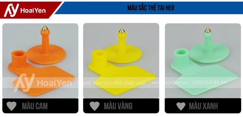 Màu sắc đa dạng như màu cam, màu vàng, màu xanh lá cây, màu nâu...